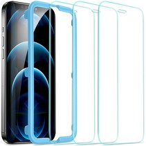 iPhone 12 Pro Max Screenprotector - Tempered Glass Screenprotector - Tempered Glass - Transparant (2-Pack)