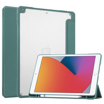 iPad 10.2 (2019 / 2020 / 2021) Hoes - Transparante Case - Tri-fold Back Cover - Donker Groen