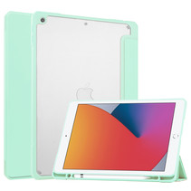 iPad 10.2 (2019 / 2020 / 2021) Hoes - Transparante Case - Tri-fold Back Cover - Mint Groen