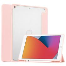 iPad 10.2 (2019 / 2020 / 2021) Hoes - Transparante Case - Tri-fold Back Cover - Roze
