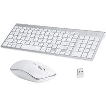Universeel keyboard - Draadloos toetsenbord en Muis - Wit