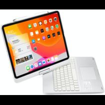 iPad Pro 12.9 (2020) - QWERTY - Bluetooth Toetsenbord hoes - Toetsenbord verlichting en Touchpad - 360 graden draaibaar -Zilver