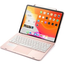 iPad Pro 12.9 (2020) - Bluetooth Toetsenbord hoes - Toetsenbord verlichting - Touchpad - Rosé-Goud
