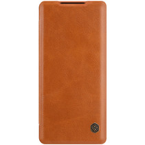 Huawei Mate 40 Hoesje - Qin Leather Case - Flip Cover - Bruin