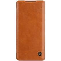Huawei Mate 40 Pro Hoesje - Qin Leather Case - Flip Cover - Bruin