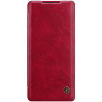 Huawei Mate 40 Pro Plus Hoesje - Qin Leather Case - Flip Cover - Rood
