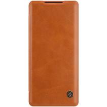 Huawei Mate 40 Pro Plus Hoesje - Qin Leather Case - Flip Cover - Bruin