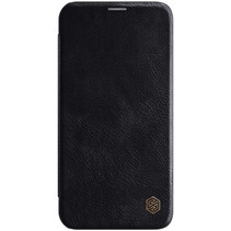 Apple iPhone 12 Mini Hoesje - Qin Leather Case - Flip Cover - Zwart