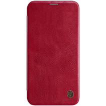 Apple iPhone 12 / 12 Pro Hoesje - Qin Leather Case - Flip Cover - Rood