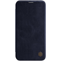 Apple iPhone 12 Pro Max Hoesje - Qin Leather Case - Flip Cover - Blauw
