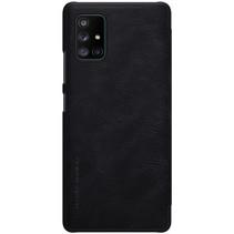 Samsung Galaxy A71 5G Hoesje - Qin Leather Case - Zwart