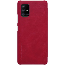 Samsung Galaxy A71 5G Hoesje - Qin Leather Case - Rood