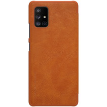 Samsung Galaxy A71 5G Hoesje - Qin Leather Case - Flip Cover - Bruin