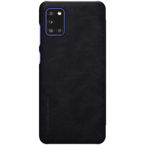 Samsung Galaxy A31 Hoesje - Qin Leather Case - Flip Cover - Zwart