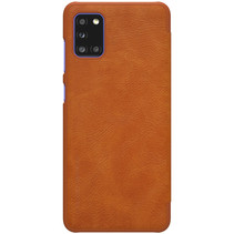 Samsung Galaxy A31 Hoesje - Qin Leather Case - Flip Cover - Bruin