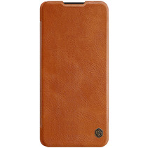 Samsung Galaxy A42 5G Hoesje - Qin Leather Case - Flip Cover- Bruin