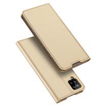 Samsung Galaxy A12 Hoesje - Dux Ducis Skin Pro Book Case - Goud