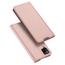 Samsung Galaxy A12 Hoesje - Dux Ducis Skin Pro Book Case - Rosé-Goud
