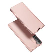Samsung Galaxy S21 Hoesje - Dux Ducis Skin Pro Book Case - Rosé-Goud