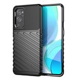 Case2go OnePlus 9 Pro hoesje - Schokbestendige Soft TPU back cover - Zwart