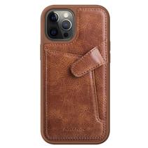 Nillkin - iPhone 12 / 12 Pro Hoesje - Aoge Leather Case Serie - Book Case - Bruin