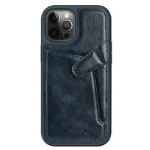 Nillkin - iPhone 12 / 12 Pro Hoesje - Aoge Leather Case Serie - Book Case - Blauw