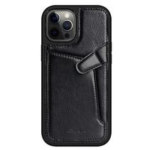Nillkin - iPhone 12 / 12 Pro Hoesje - Aoge Leather Case Serie - Book Case - Zwart