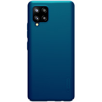 Nillkin - Samsung Galaxy A42 5G Hoesje - Super Frosted Shield - Back Cover - Blauw