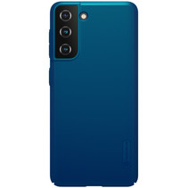 Nillkin - Samsung Galaxy S21 Hoesje - Super Frosted Shield - Back Cover - Blauw