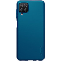 Nillkin - Samsung Galaxy A12 Hoesje - Super Frosted Shield - Back Cover - Blauw