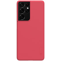 Nillkin - Samsung Galaxy S21 Ultra Hoesje - Super Frosted Shield - Back Cover - Rood