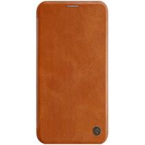 Apple iPhone 11 Pro Hoesje - Qin Leather Case - Flip Cover - Bruin