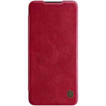 Samsung Galaxy A12 Hoesje - Qin Leather Case - Flip Cover - Rood
