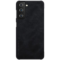 Samsung Galaxy S21 Plus Hoesje - Qin Leather Case - Flip Cover - Zwart