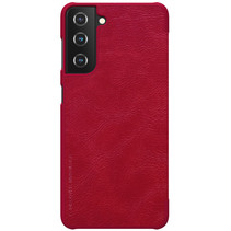 Samsung Galaxy S21 Plus Hoesje - Qin Leather Case - Flip Cover - Rood