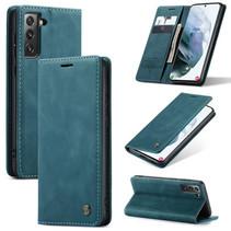 CaseMe - Samsung Galaxy S21 Plus Hoesje - Wallet Book Case - Magneetsluiting - Blauw