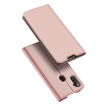 Samsung Galaxy M11 Hoesje - Dux Ducis Skin Pro Book Case - Rosé-Goud