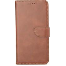 Samsung Galaxy M11 Hoesje - Wallet Book Case - Magnetische sluiting - Ruimte voor 3 (bank)pasjes - Bruin