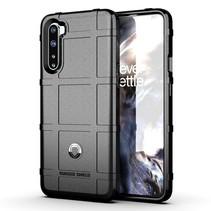 Case2go - Hoesje geschikt voor OnePlus Nord - Heavy Armor TPU Bumper - Back Cover - Zwart