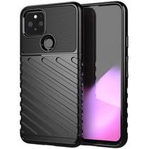 Case2go - Hoesje geschikt voor Google Pixel 5 - Schokbestendige TPU Back Cover - Zwart
