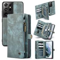 CaseMe - Samsung Galaxy S21 Ultra Hoesje - 2 in 1 Back Cover - Blauw