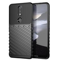 Case2go - Hoesje geschikt voor Nokia 2.4 - Schokbestendige TPU Back Cover - Zwart