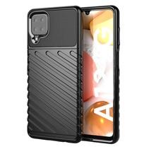 Samsung Galaxy A12 Hoesje - Schokbestendige TPU back cover - Zwart