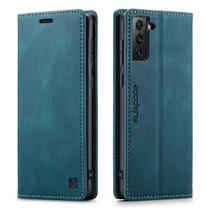 AutSpace - Samsung Galaxy S21 hoesje - Wallet Book Case - Magneetsluiting - met RFID bescherming - Blauw