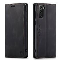 AutSpace - Samsung Galaxy S21 Plus hoesje - Wallet Book Case - Magneetsluiting - met RFID bescherming - Zwart