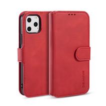 CaseMe - iPhone 11 Pro Max Hoesje - Met Magnetische Sluiting - Ming Serie - Leren Book Case - Rood