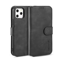 CaseMe - iPhone 11 Pro Max Hoesje - Magnetisch 2 in 1 Case - Ming Serie - Leren Back Cover - Zwart
