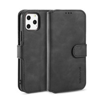 CaseMe - iPhone 11 Pro Hoesje - Magnetisch 2 in 1 Case - Ming Serie - Leren Back Cover - Zwart