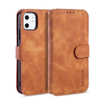 CaseMe - iPhone 11 Hoesje - Met Magnetische Sluiting - Ming Serie - Leren Book Case - Licht Bruin
