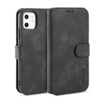 CaseMe - iPhone 11 Hoesje - Met Magnetische Sluiting - Ming Serie - Leren Book Case - Zwart